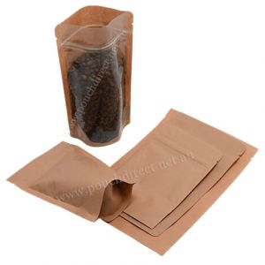 Clear / Brown Paper Stand Up Pouch