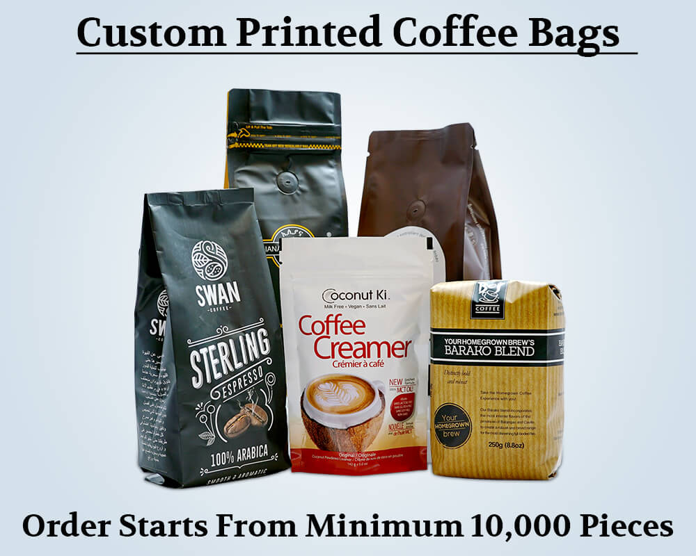 Custom Products Printed Coffee Bags