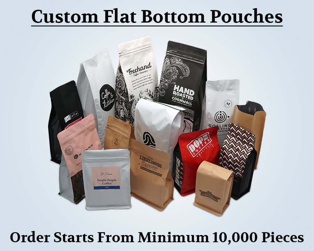 Custom Products Flat Bottom Pouches