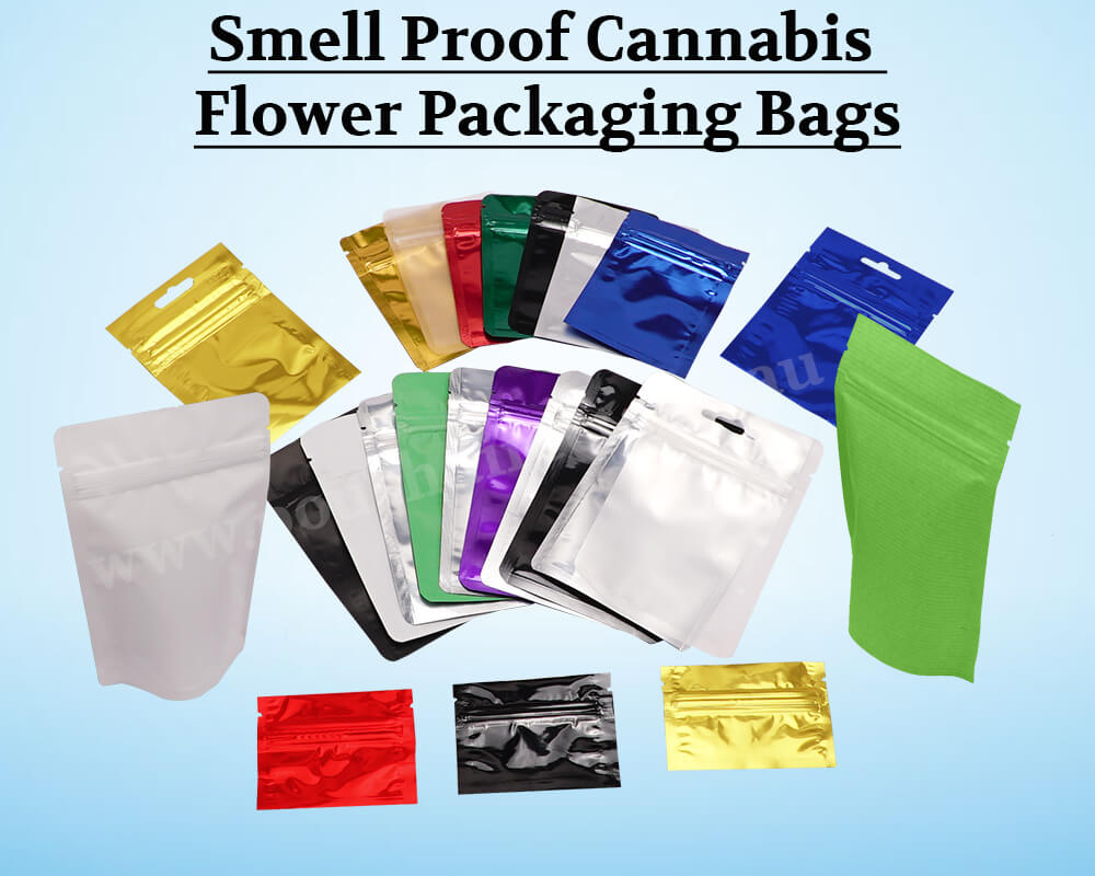 Smell Proof Cannabis  Flower Packaging Bags